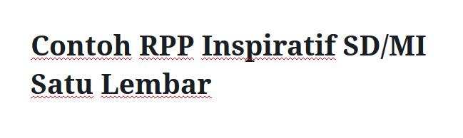 Contoh-RPP-Inspiratif-SD-MI-Satu-Lembar