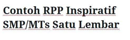 Contoh-RPP-Inspiratif-SMP-MTs-Satu-Lembar