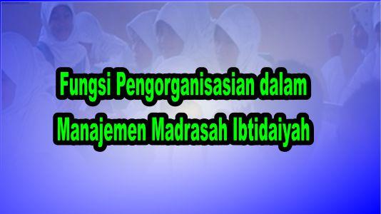 Fungsi Pengorganisasian dalam Manajemen Madrasah Ibtidaiyah