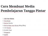 Cara Membuat Media Pembelajaran Tangga Pintar
