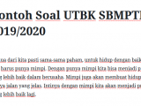 Contoh Soal UTBK SBMPTN 2019 2020