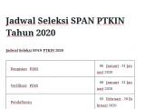 Jadwal SPAN PTKIN 2020