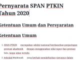 Pernyarata SPAN PTKIN 2020